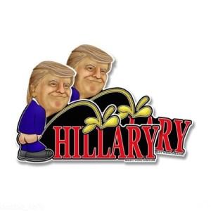 Trump Peeing Hillary