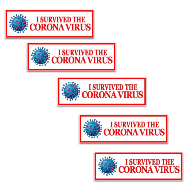I Survived the Corona virus stickers