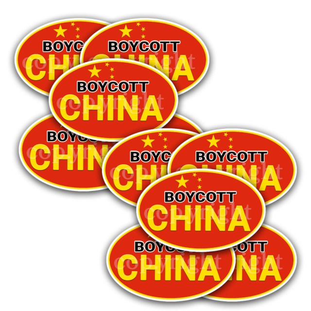 Boycott China Stickers 10 Decals