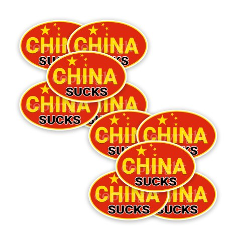 China Suck Stickers 10 Decals