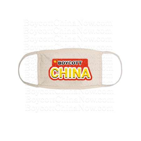 Boycott China Face Mask Double Strap Blk 1