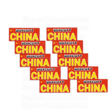 Boycott China Stickers 10