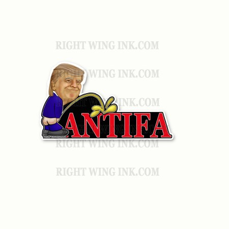 Trump Peeing on Antifa Stickers 2 Pack