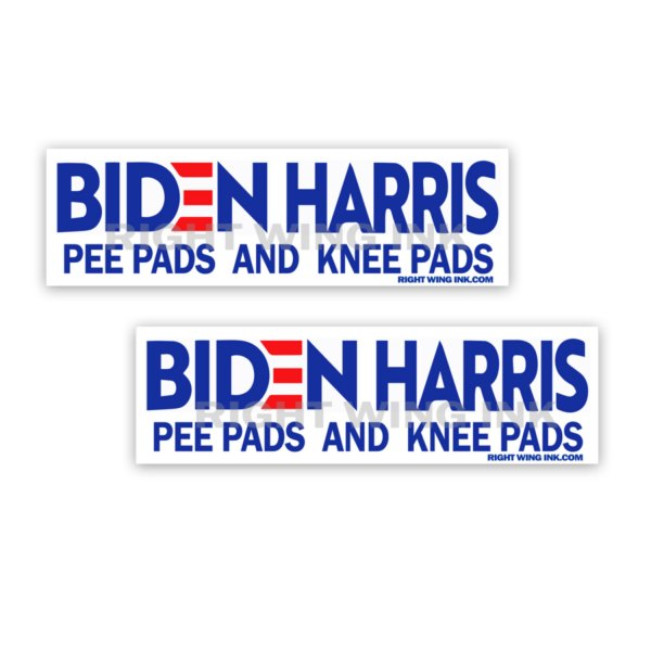 Biden Harris Pee Pads and Knee Pads Stickers 2 pack