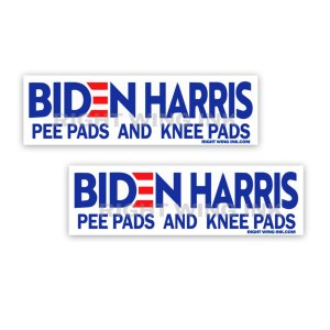 Biden Harris Pee Pads and Knee Pads Stickers 2