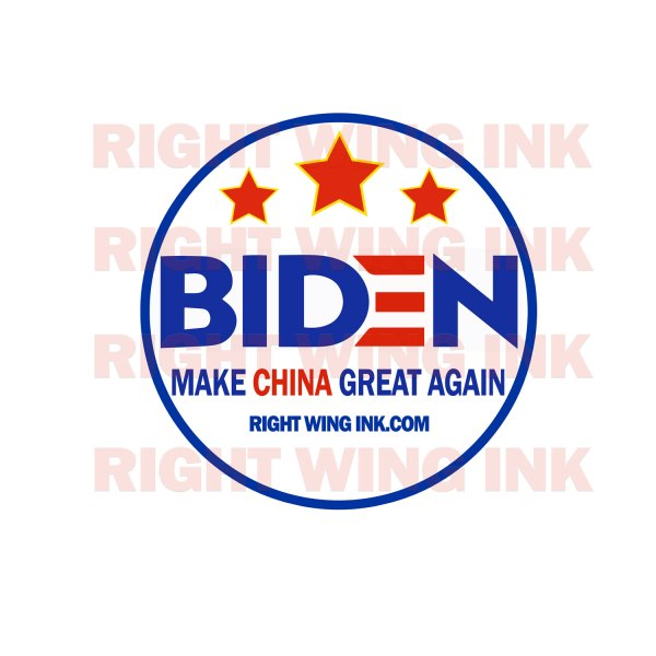 Biden Make China Great Again Stickers