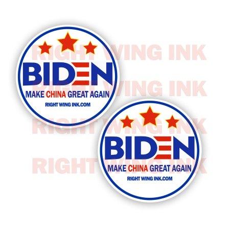 Biden Make China Great Again Stickers 2 Pack Rnd 1
