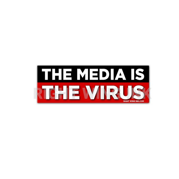 The Media Is The Virus Stickers 2 Pack 1