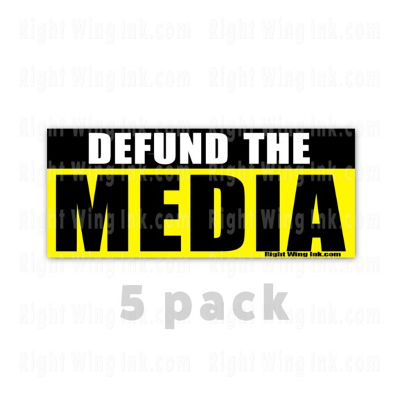 Defund the Media Stickers 5