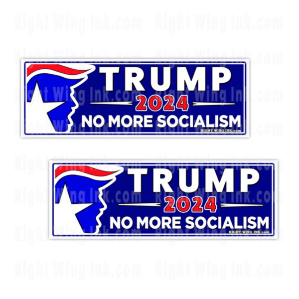 TRUMP 2024 Stickers No More Socialism 2