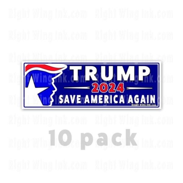 TRUMP 2024 Stickers Save America Again 10