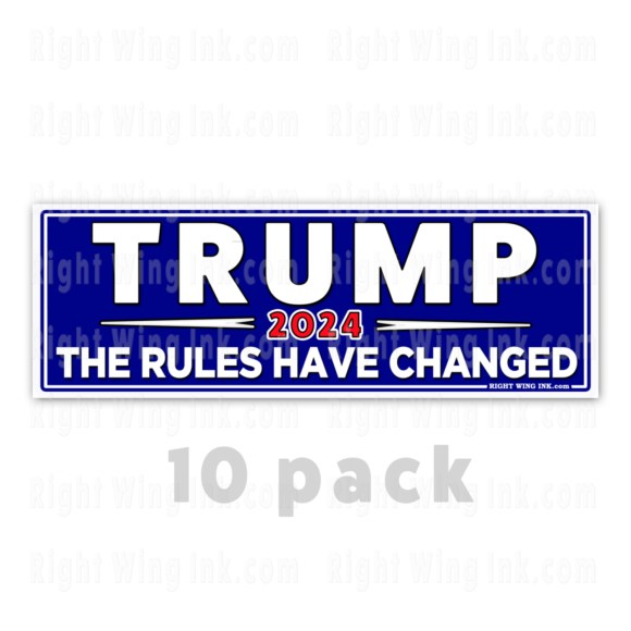 TRUMP 2024 Stickers The Rules Have Changed 10