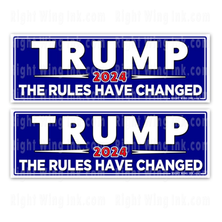 TRUMP 2024 Stickers The Rules Have Changed 2