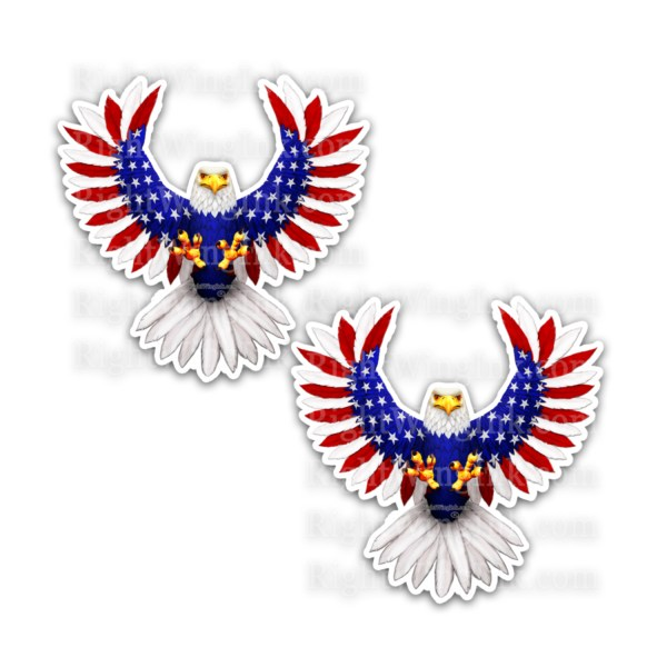 American Flag Eagle Stickers 2