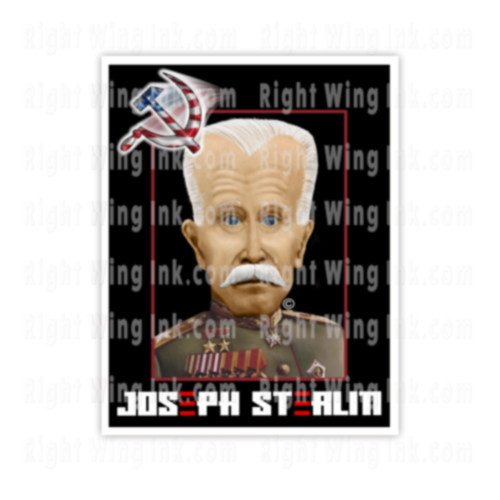 Joseph Stealin Stickers Joe Biden Caricature