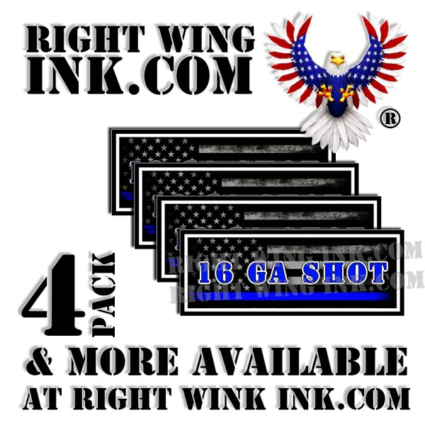 16 GA Shot Ammo Can Decals Stickers