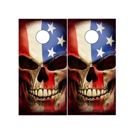 American Flag Patriot Cornhole Board Wrap Set