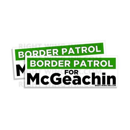 Border Patrol for McGeachin Stickers