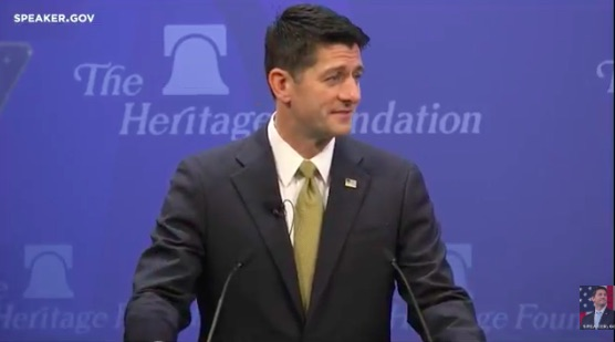 Ryan Addresses the Heritage Foundation on Tax Reform