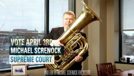 New Television Ad for Judge Michael Screnock Features Tuba
