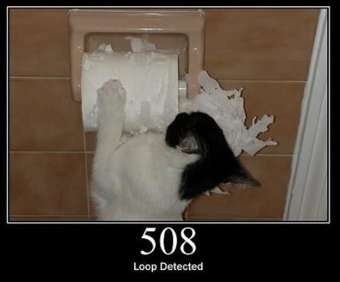 508 Loop Detected  The server detected an infinite loop while processing the request.