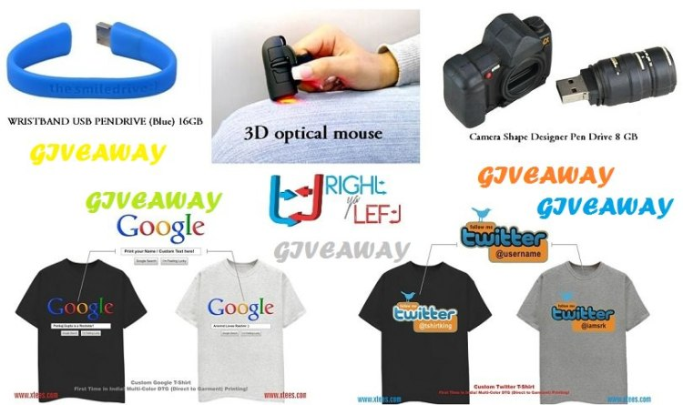 giveaway pendrive mouse tshirts