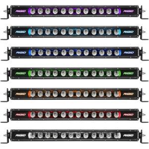 7 цветов подсветки корпуса RIGID Radiance+ SR