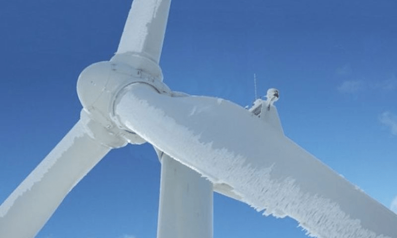 Image result for frozen texas windmills