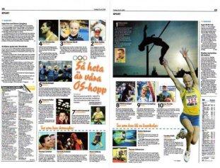 Motala Tidning den 25 juli 2008.