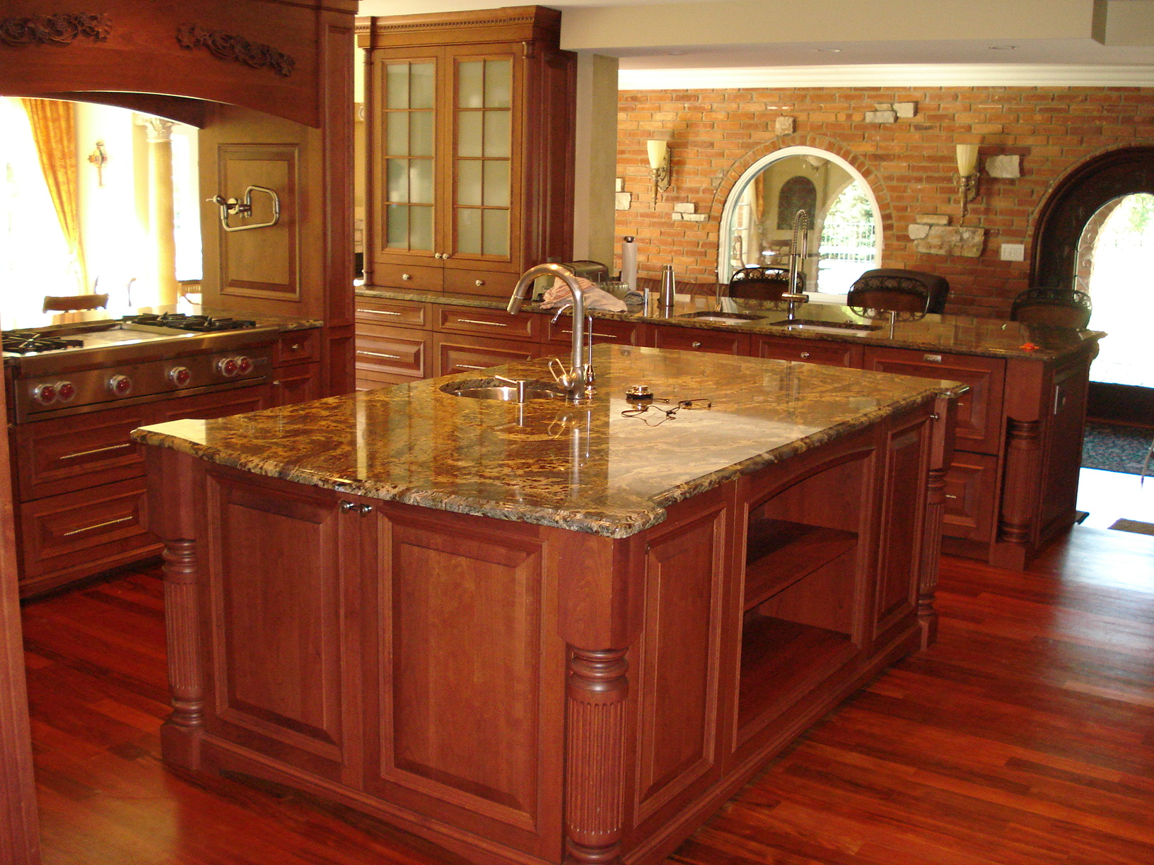 kitchen cabinet granite top pendant lights over island countertops  rigo tile