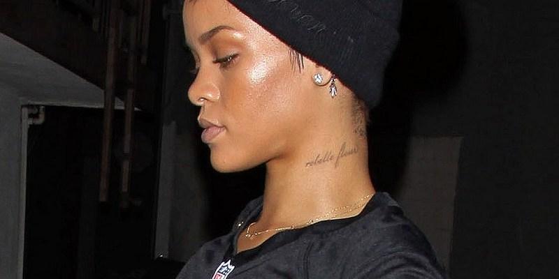 Rihanna at a recording studio in L.A.