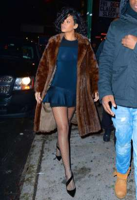 Rihanna at Marquee nightclub in NYC on December 18, 2013 Dress