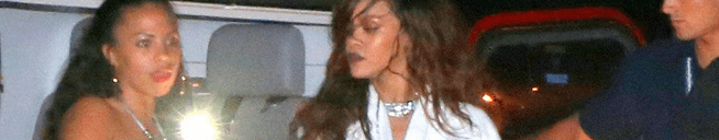 Rihanna spotted after the Rock in Rio concert