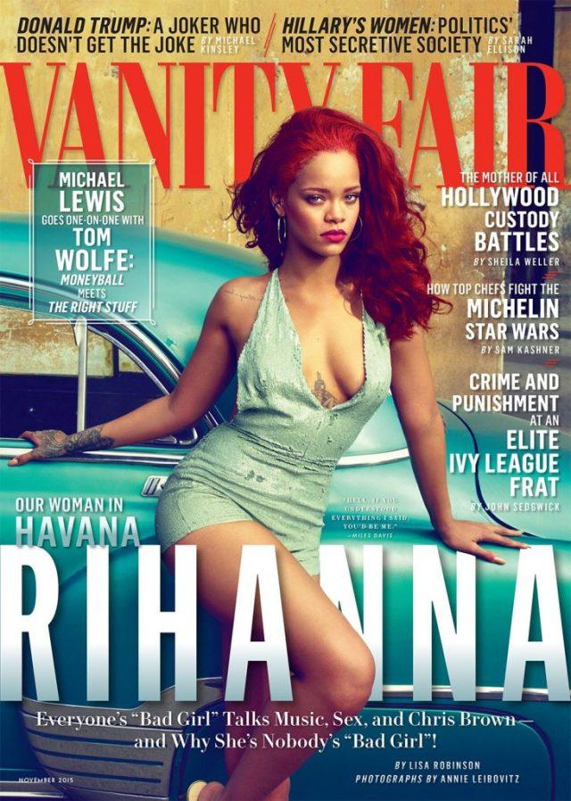 Rihanna on the cover of Vanity Fair 2015