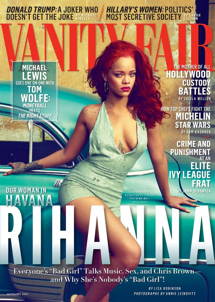 Rihanna on the cover of Vanity Fair 2015