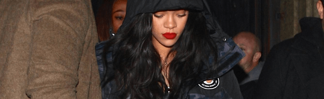 Rihanna spotted at Project nightclub