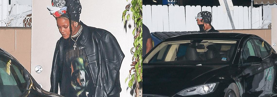 Rihanna dines in Los Angeles