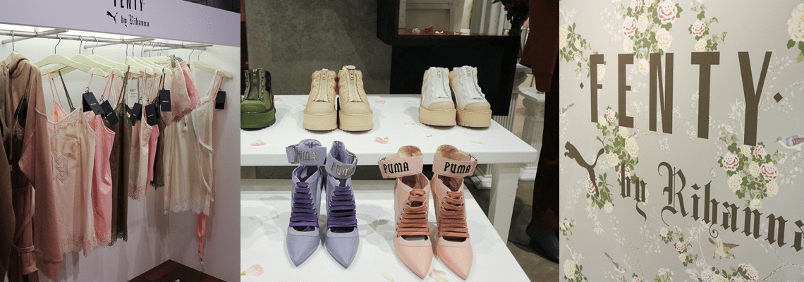 Fenty by Rihanna for PUMA spring/summer 17 collection displayed in Tokyo