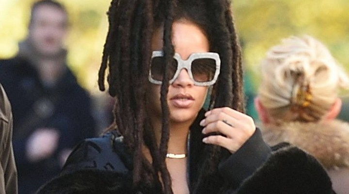 Rihanna heads to the Ocean's Eight set