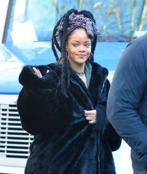 Rihanna on the set of Ocean's Eight in New York on November 23, 2016