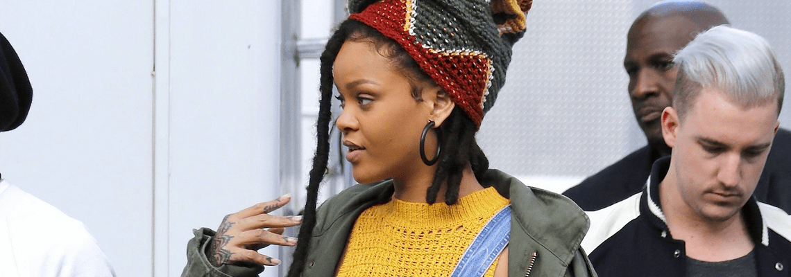 Rihanna photographed on the set of Ocean's Eight