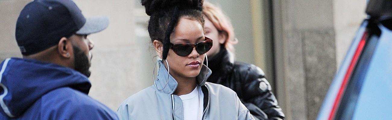 Rihanna rocks Velvet Creepers on Ocean's Eight set
