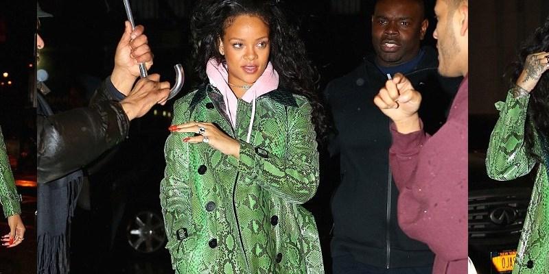 Rihanna parties in New York