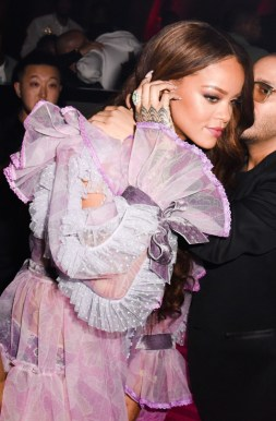 Rihanna at Grammy Awards 2017 after party at 1OAK see-through