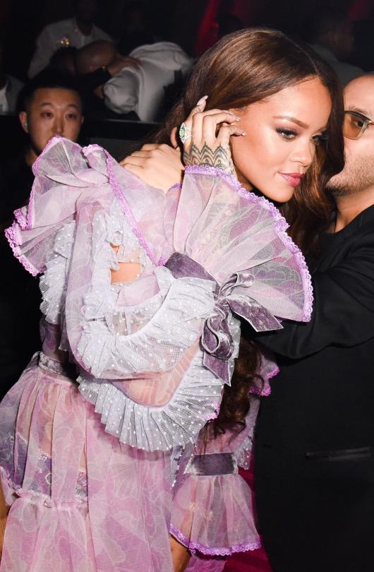 Rihanna at Grammy Awards 2017 after party at 1OAK see-through
