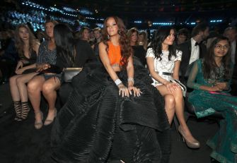 Rihanna attends 2017 Grammy Awards audience