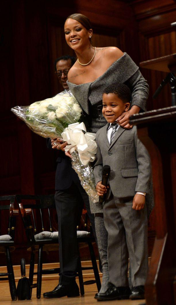 Rihanna receives Harvard Humanitarian of the Year award Child