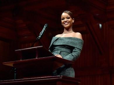 Rihanna receives Harvard Humanitarian of the Year award 2017