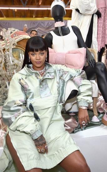 Rihanna opens the FENTYXPUMA pop-up shop in Los Angeles on April 18, 2017 fans