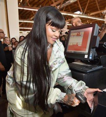 Rihanna opens the FENTYXPUMA pop-up shop in Los Angeles on April 18, 2017